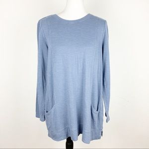 J.Jill Blue Sweater Tunic Top Size Medium